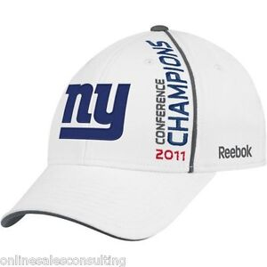 New York Giants Reebok White 2011 Conference Champions Football NFL Hat/Cap OSFA