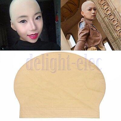 Reusable Skin Bald Head Cap Halloween Party Props Costume Dress Up Supplies DG