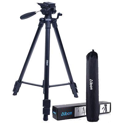 "63"" Universal Professional DSLR Camera Travel Tripod Pan Head For Canon Nikon"