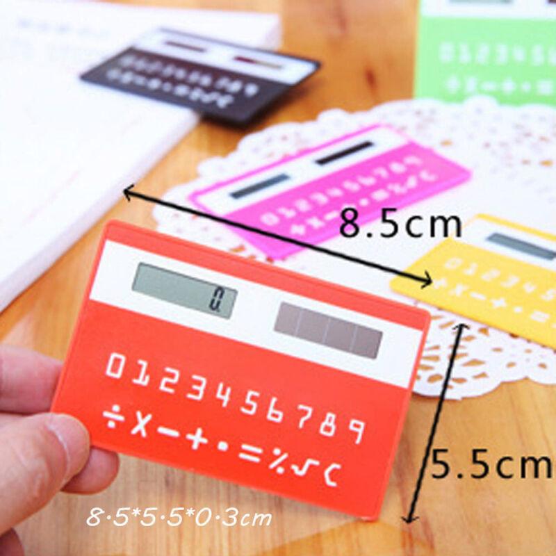 Ultra Thin Solar Energy Power Slim Card Pocket Wallet Calculator 8 Digits HQ Kit