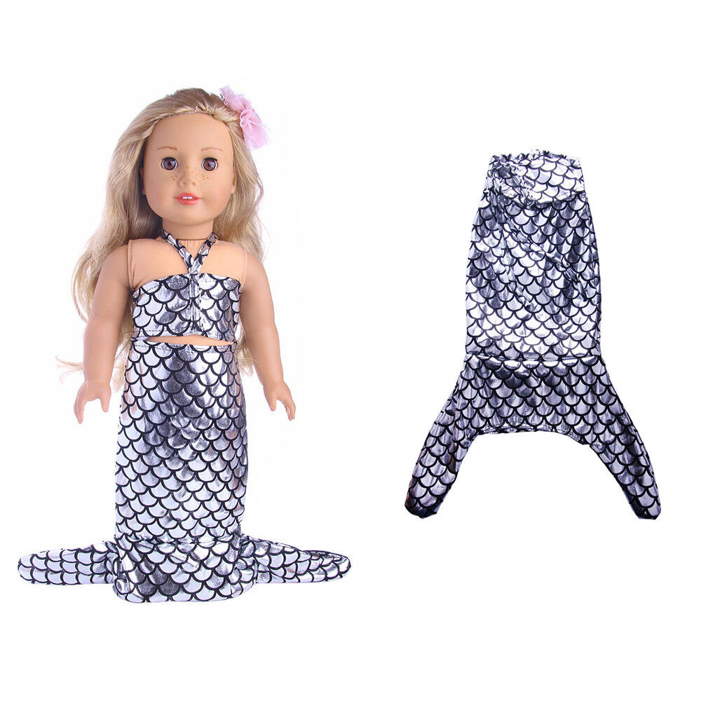 US Stock Doll Clothes Dress Outfits Pajames For 18 inch Xmas Gift Dress Shoes Mermaid A