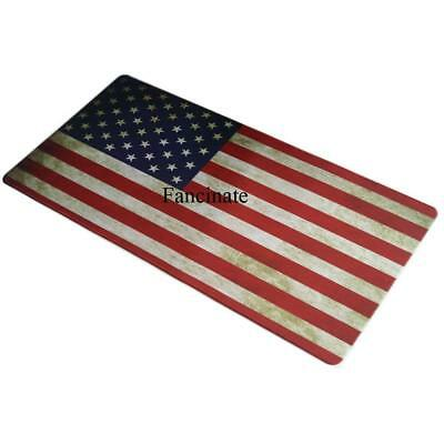 Extended Gaming Mouse Mat Pad - Xxl Large Wide Long Black Mousepad Us Flag
