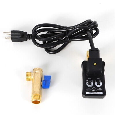12auto Drain Valve Electronic Timed 2 Way Air Compressor Water Gas Tank Valve