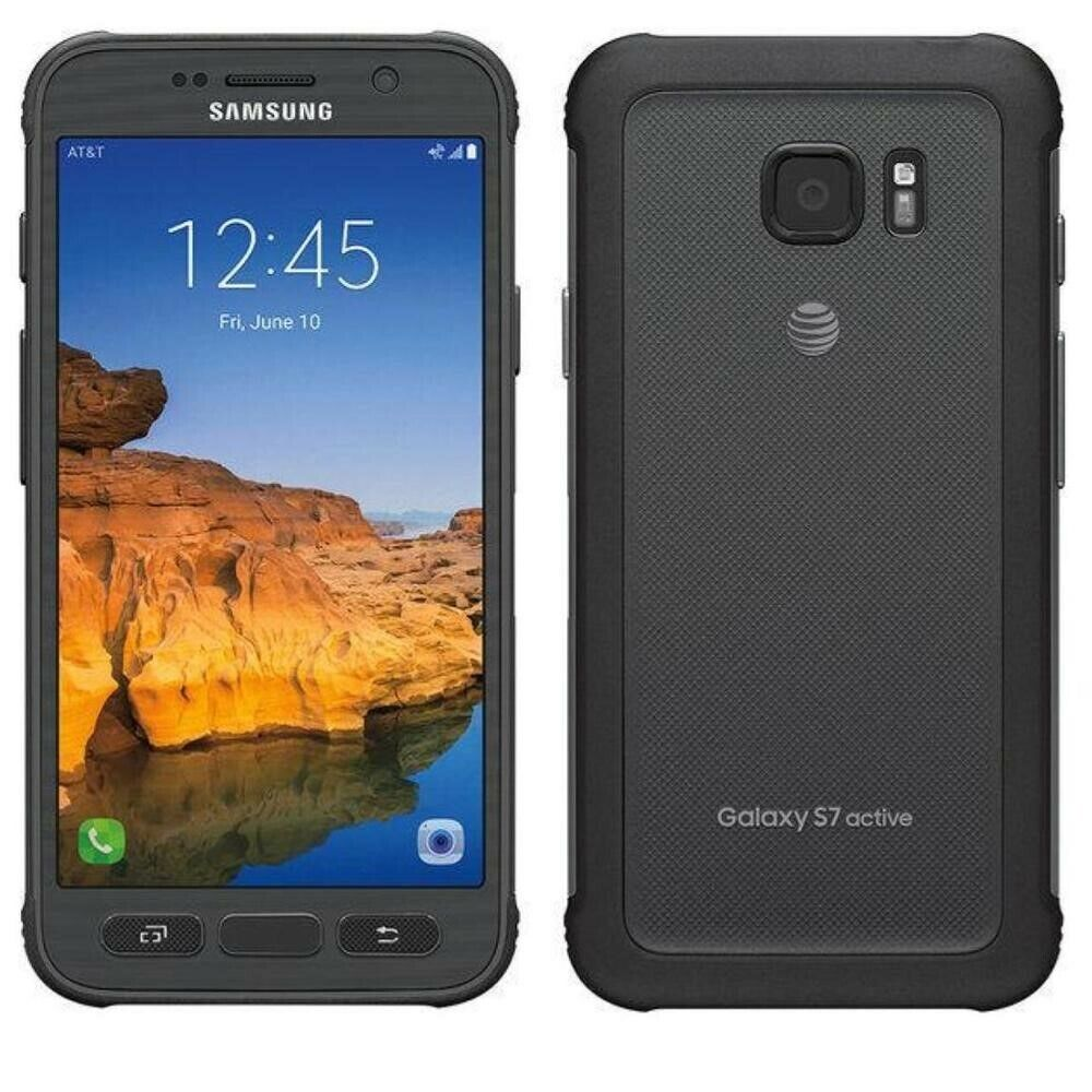 Android Phone - Samsung Galaxy S7 Active 32gb Black SM-G891A Unlocked GSM World Phone Discount!