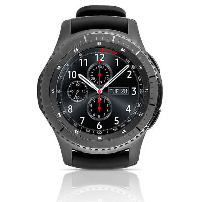 Samsung Galaxy Gear S3 Frontier 46mm Smart Watch With Band Stainless Steel Black