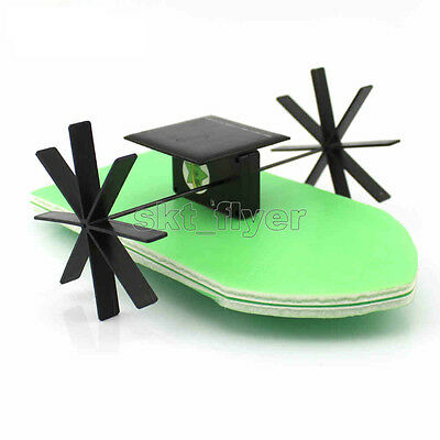 Solar Boat Toy Kit Propeller Motor Watercraft DIY Model Hobby Learning School