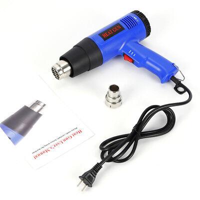 1800w Variable Temperature Heater Electric Heat Gun Hot Air Gun W Free Nozzles