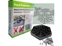 Floating pond guards ideal for protecting Koi fish from Herons