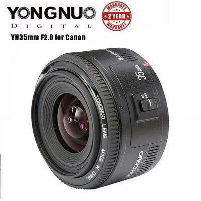 Yongnuo YN 35mm F2 Auto Cynosure clear Wide Angle Large Aperture Prime Lens For Canon EOS