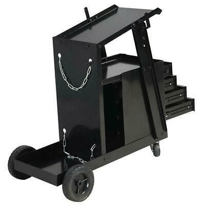 Welding Cart For Mig Tig Flux Welder Swivel Wheels 4 Drawer Cabinet High Quality