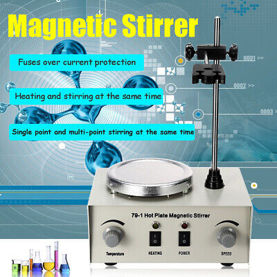 79-1 Magnetic Stirrer Hotplate Heating Lab Mixer Mixing 1000ml W Heating Plate