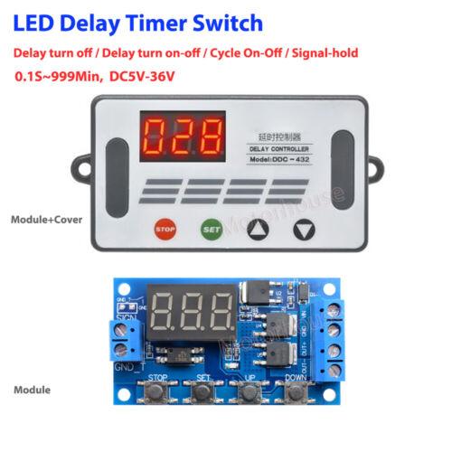 DC 5V 12V 24V Digital LED Cycle Timer Delay Switch Turn ON/OFF Time Relay Module