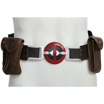 Deadpool Belt Cosplay (XCOSER Deadpool Belt with Metal Buckle+Pockets Movie Cosplay Costume Props)