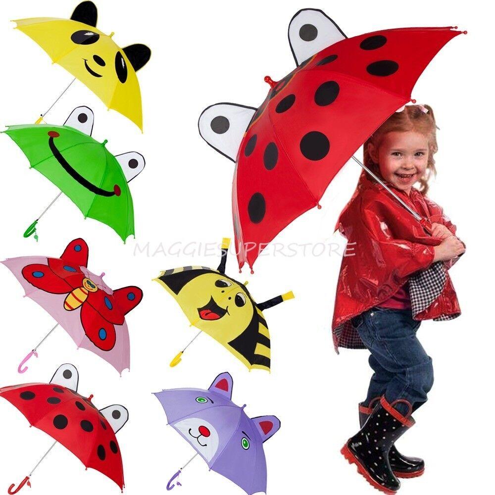3D Ear Cartoon Animal Kids Children's Hook Handle Umbrella R