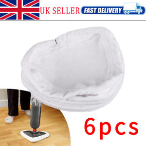 6Pcs Universal Steam Mop Head Washable Re-Useable Durable Floor Cloth Pads