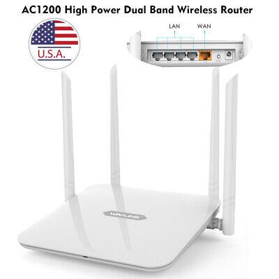 1200Mbps Gigabit WLAN WIFI Router Dual Band 2.4GHz/5GHz 4xLAN Access Point PPPOE