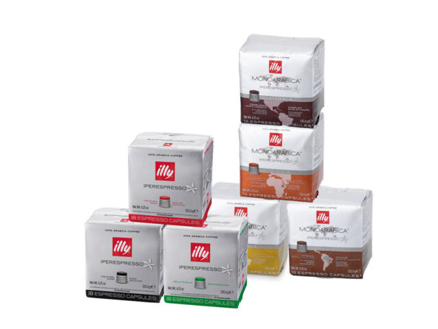 ILLY   324 Iperespresso Capsules for Espresso Coffee Machine   18 Packs assorted