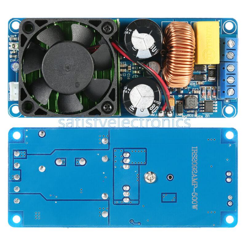 IRS2092S 500W Mono Channel Digital Amplifier Class D HIFI Power Amp Board + FAN