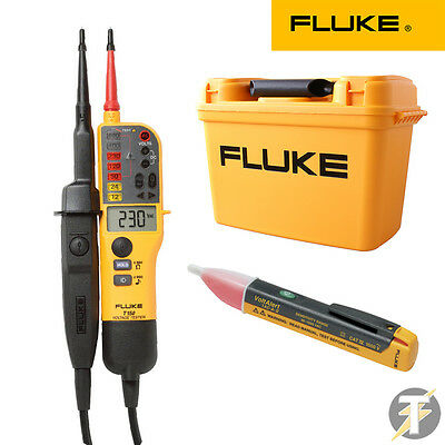 Fluke T150 Voltage Continuity Tester Kit2b C1600 Tool Case 1ac Volt Detector