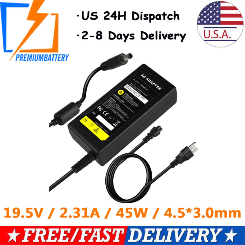45W AC Charger Adapter for Dell Inspiron 11 13 14 15 3000 5000 7000 Series p