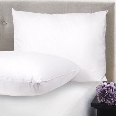 Feather & Down Blend Bed Pillows 100% Cotton Cover 2 Pack Queen King Standard ()