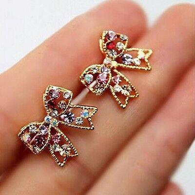 Bowknot Hot Sale Chic Ear Crystal Bowknot Earrings Women Fashion Jewelry
