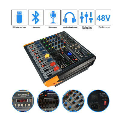 STARAUDIO 4CH 2000W Stage Audio Powered Mixer MP3 Bluetooth USB Mixing Console