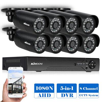 8CH 1080P AHD 5In1 DVR 8*720P IR-CCTV-Kamera APP-Steuerung Bewegungserkennung DE Cctv-kamera