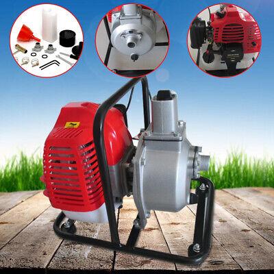 1 Petrol Water Transfer Pump 2hp High Flow Pressure Fire Garden Irrigation Us