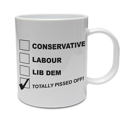 CONSERVATIVE / LABOUR / LIB DEM - Political Party / Funny Themed Ceramic - Political Party Themes