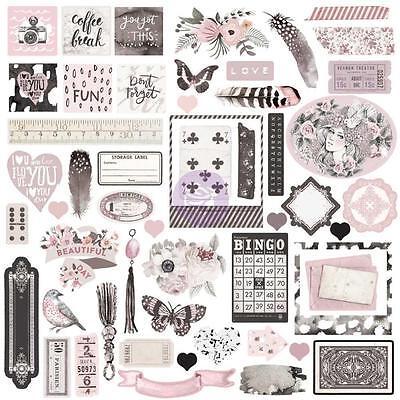 PRIMA MARKETING- EPHEMERA CARDSTOCK DIE-CUTS- ROSE QUARTZ