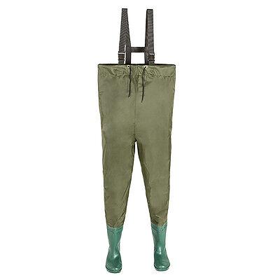 Wathose Anglerhose Teichhose Angelhose Watthose Profilsohle Stiefel PVC Hose 44