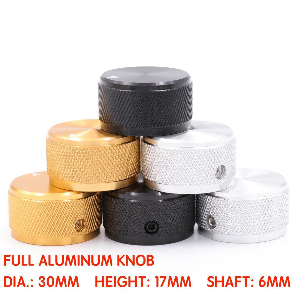 2PCS POTENTIOMETER KNOB 30x17mm Aluminum Audio Amplifier CD VOLUME CONTROL Knob