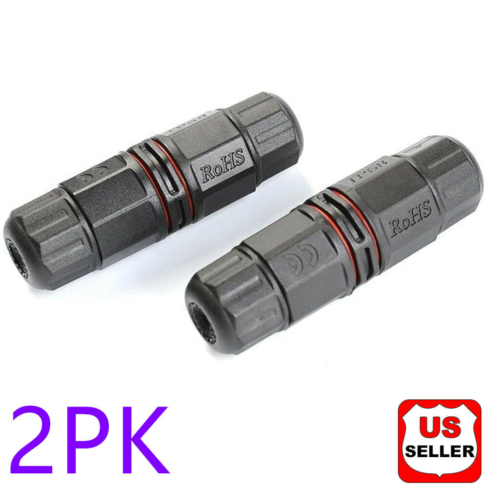 2PK Junction Box Waterproof IP68 Electric Cable Wire Plug Connector Protection Business & Industrial