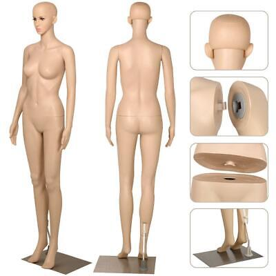 Yaheetech Female Plastic Dress Form Mannequin Full Body With Metal Base 68.9