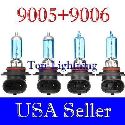 Halogen 9005 9006 Super White High Low Beam 100w Headlight Bulb Light Lamp #xh7