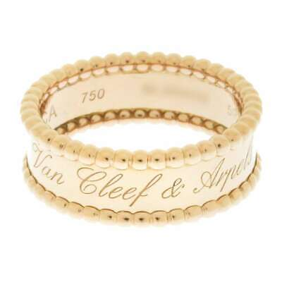 Van Cleef & Arpels Perlee Signature Ring 18K Rose Gold  #59 VCARN32400 Jewelry