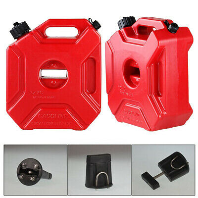 Plastic 5l Jerry Can Gas Diesel Fuel Tank For Car Atv Motorcycle W Mounting Kit