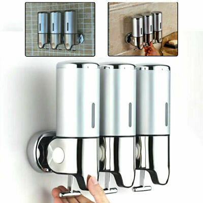 Bathroom Wall Mounted Shower Soap Shampoo Gel Dispenser Liquid Bod Lotion Bottle