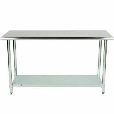 Stainless Steel 24 X 60 Nsf Restaurant Kitchen Prep Work Table Undershelf