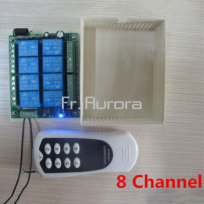DC 12V RF Switch 8CH Channel Relay 1000m Remote Control Transmitter+ Receiver
