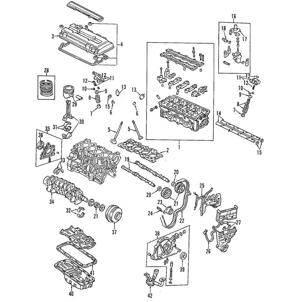 Valve Cover Gasket Set Kit For Honda CIVIC 1991-2001 CRX