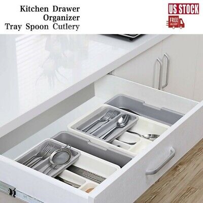 Storage Drawer Organizer 7 Compartment BPA-Free Expandable Utensil Cutlery Tray