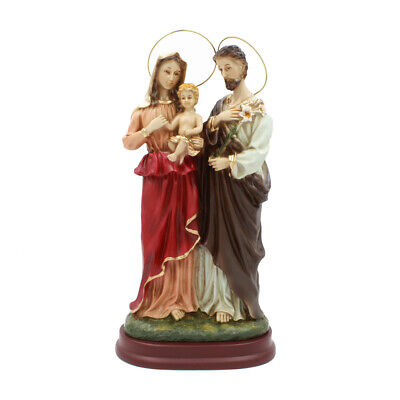 Joseph Mary Material: Resin Size: 6 1//2 H Jesus /& St Holy Family with St Perfect for Entrance of Home or Wedding Gift! Catholic /& Religious Nativity Holy Water Font