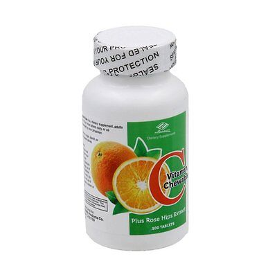 (Vitamin C with rose hips extract (100 Chewable Tablets ))