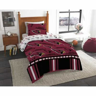 Arizona Cardinals NFL Twin 4 Piece Comforter Bedding Team Logo Bed in Bag Set Arizona Cardinals Twin Comforter