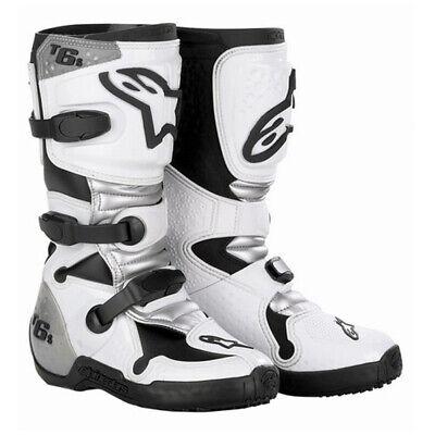 ALPINESTARS TECH 6S YOUTH MOTOCROSS MX BOOTS WHITE Alpinestars Tech 6s Youth Boots