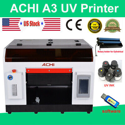 Achi A3 Uv Printer Epson 1390 6 Color Rotary Holder For Flat Cylinder Metal