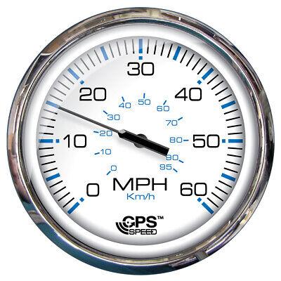 "Faria Beede 33861 Faria 5"" Speedometer [60 Mph] Gps [studded] Chesapeake White"