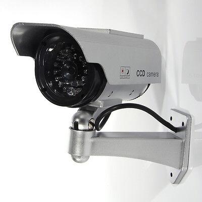 Solar Power W/CCTV Fake Dummy Camera Blinking LED Surveillance Security
